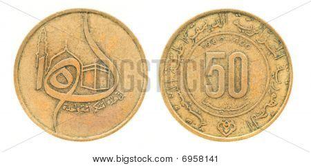 50 Centimes - Money Of Algeria
