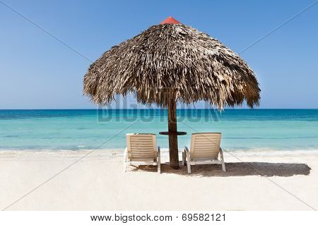 Lounge Chairs Under Sunshade