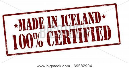 Made In Iceland One Hundred Percent Certified