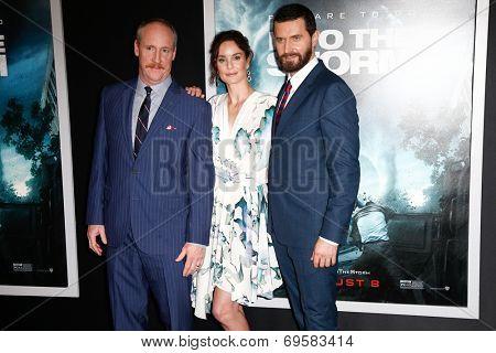 NEW YORK-AUG 4: (L-R) Actors Matt Walsh, Sarah Wayne Callies and Richard Armitage attend the