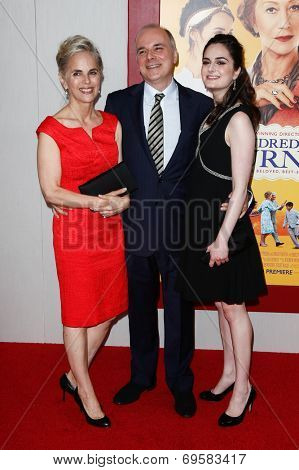 NEW YORK-AUG 4: Author Richard Morais (C) and family attend