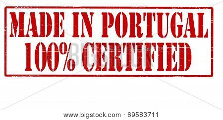 Made In Portugal One Hundred Percent Certified