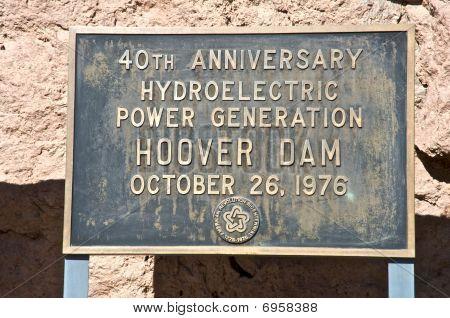 Gedenktafel am Hoover-damm
