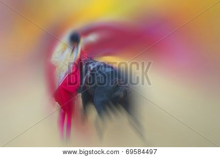 Abstract Drawing About Bullfight