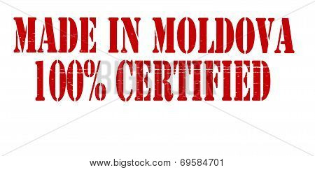 Made In Moldova One Hundred Percent Certified
