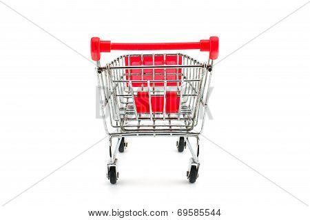 Super Market Cart Isolated On White