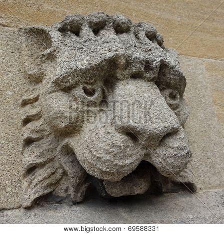 Carved Lion Gargoyle