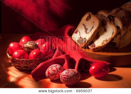 Easter Eggs Still-life