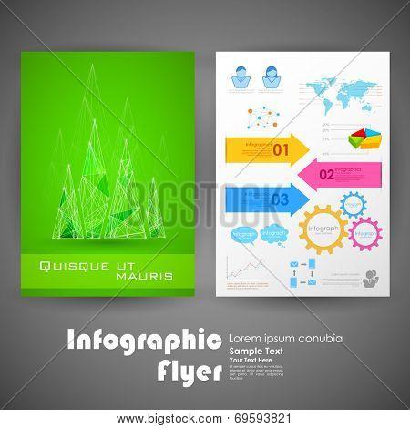 illustration of business infographic flyer for presentation