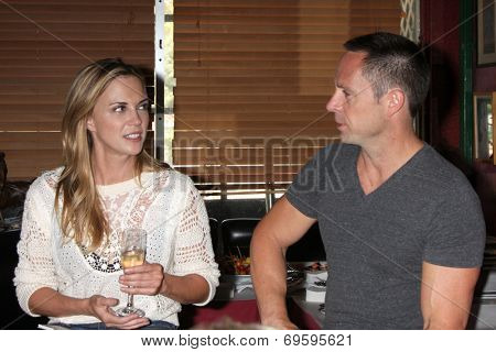 LOS ANGELES - AUG 1:  Kelly Sullivan, William deVry at the William deVry Fan Club Event at the California Canteen on August 1, 2014 in Los Angeles, CA