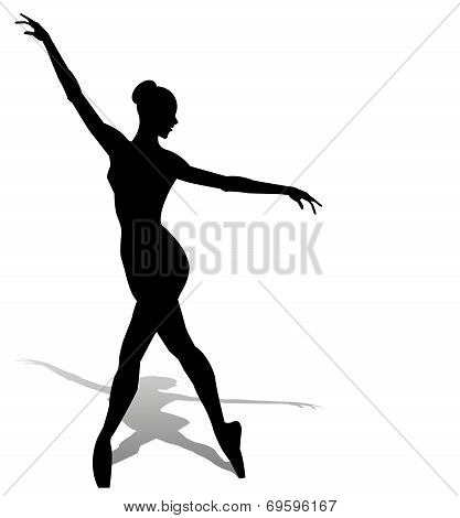dancer silhouette on white background