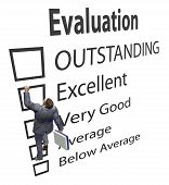 Business Employee Climbs Up Evaluation Improvement Form