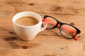 stock photo of whole-wheat  - The cup of coffee and Whole Wheat Bread - JPG