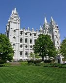 Salt Lake City Mormon Temple poster