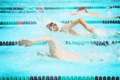 foto of swim meet  - Freestyle race - JPG