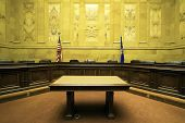 pic of court room  - Court Room in State Capitol Building  - JPG