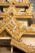 image of muni  - Myanmar art on roof Pagoda of Maha Muni temple in Mandalay city - JPG