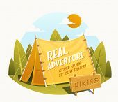 stock photo of tent  - Camping Tent - JPG