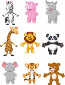 picture of tiger cub  - Vector illustration of animal cartoon posing collection set - JPG
