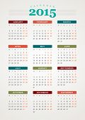 picture of tuesday  - Calendar 2015 year vector design print template - JPG