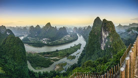 image of landforms  - Karst mountain landscape on the Li River in Xingping - JPG