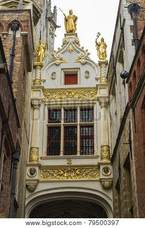 Gate To Aaron Civil Registry, Bruges