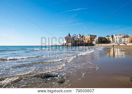 Beach at Sitges in Spain
