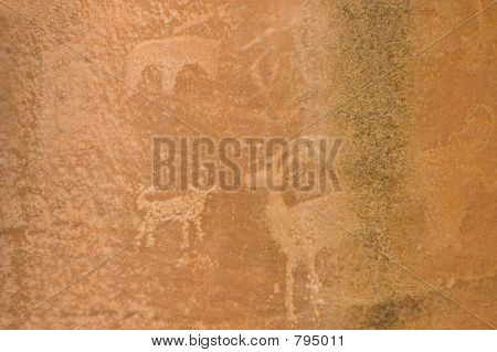 Americano nativo Petroglyp 1