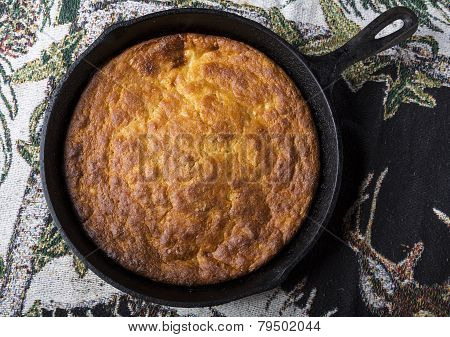 Corn Bread In Cast-iron Pan