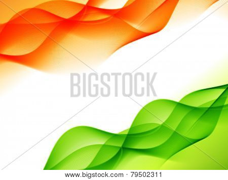 vector indian flag design made in wave style