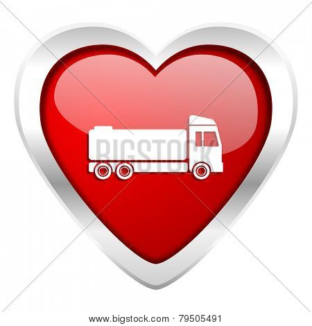 truck valentine icon cargo sign