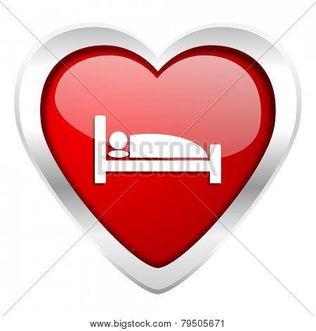 hotel valentine icon bed sign