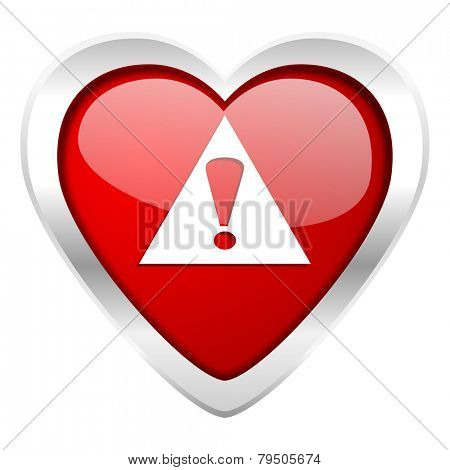 exclamation sign valentine icon warning sign alert symbol