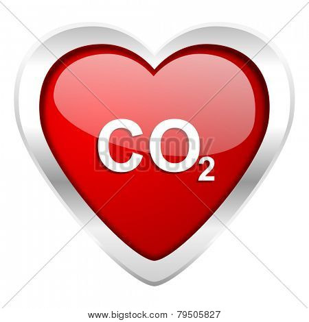 carbon dioxide valentine icon co2 sign
