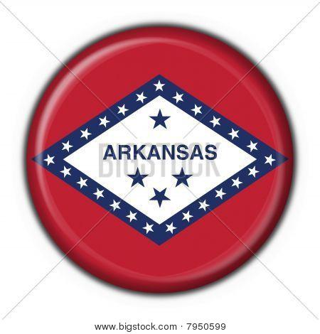 Arkansas (usa State) Button Flag Round Shape