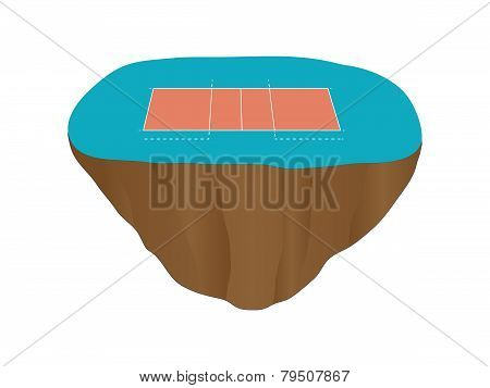 Volleyball Court Floating Island 1