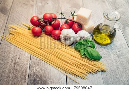 Pasta, Tomatoes And Spices
