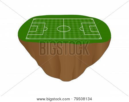 Football Field With Vertical And Horizontal Pattern Floating Island