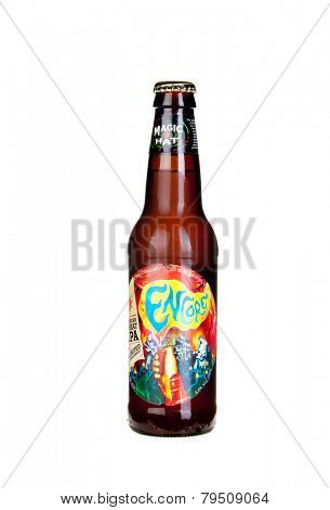 Hayward, CA - January 5, 2015: Bottle of Magic Hat Brewing Company's - Encore IPA