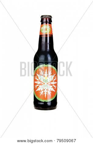Hayward, CA - January 5, 2015: Bottle of Magic Hat Brewing Company's - Starlit star Anise Porter