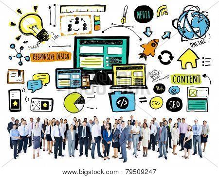 Business People Responsive Design Content Idea Aspiration Concept