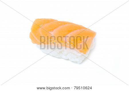 Sake Sushi Isolated Onn White.