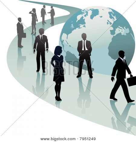 Business People On Future World Path Progress
