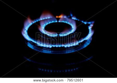 Gas flame. Low DOF