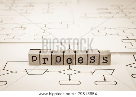 Process Flow Chart Concept