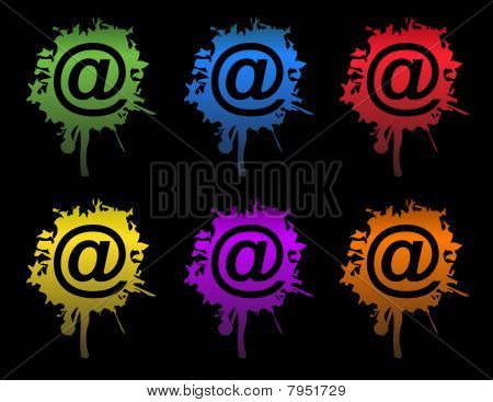 Ink Email splatters / Vector