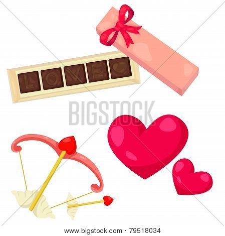 Illustrator of love chocolate concept