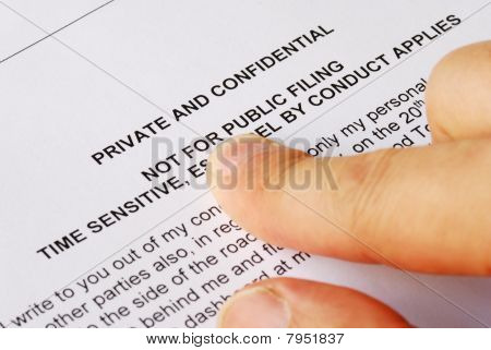 Pointing to the privacy and confidential issues