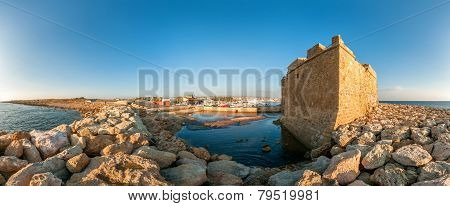 Panoramic View Of The Paphos Castle