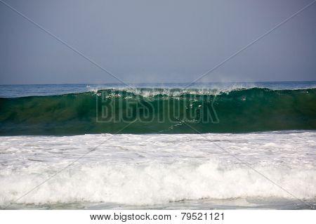 Wave At Zicatela Mexican Pipeline Puerto Escondido Mexico